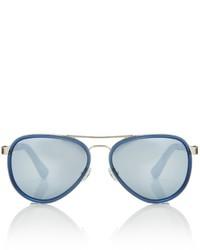 Taylor Morris Blue Mirror Voyageur Sunglasses