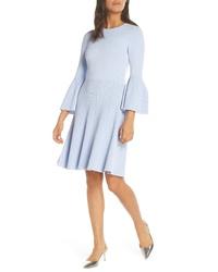 Eliza J Fit Flare Sweater Dress