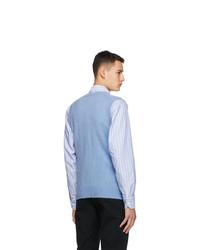 Drakes Blue Geelong Vest
