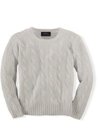 Ralph Lauren Boys 2 7 Cable Knit Cashmere Sweater, $175