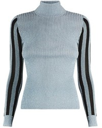 House of Holland High Neck Metallic Sweater