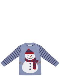 Jo-Jo Jojo Maman Bebe Snowman Jumper Blue 4 5 Years