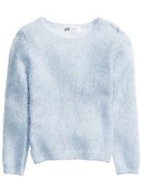 H&M Knit Sweater Light Blue Kids