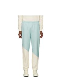 Lacoste Blue And White Golf Le Fleur Edition Logo Track Pants