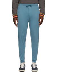 Paul Smith Blue Jersey Lounge Pants