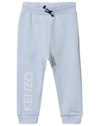 Kenzo Pale Blue Branded Sweat Pants