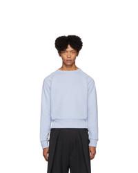 Random Identities Blue Cropped Sweatshirt