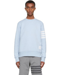 Thom Browne Blue Double Face Relaxed Fit 4 Bar Sweatshirt