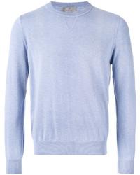 Canali Ribbed Trim Sweatshirt