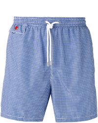 Kiton Houndstooth Pattern Swim Shorts