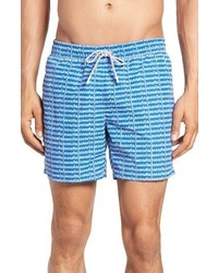 Lacoste Logo Print Swim Trunks