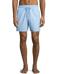 Vilebrequin Moorea Coral Fish Water Reactive Swim Trunks Sky Blue