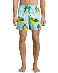 Vilebrequin Moorea St Tropez Swim Trunks Blue