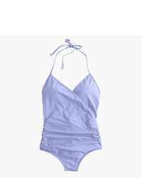 J.Crew Halter Wrap One Piece Swimsuit