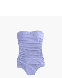 J.Crew Long Torso Ruched Bandeau One Piece Swimsuit