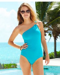MICHAEL Michael Kors Michl Michl Kors One Shoulder Asymmetrical One Piece Swimsuit