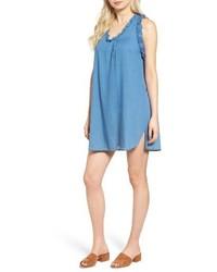 Ag the dixie cotton chambray swing dress medium 3684542