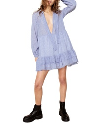 The East Order Florence Tie Neck Trapeze Minidress