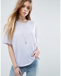 Asos T Shirt In Linen Mix Fabric