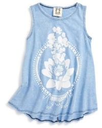 Ppla Girls Lotus Graphic Tank