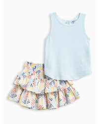 Splendid Little Girl Tank And Print Skirt Set