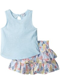 Splendid Littles Tank Top All Over Print Skirt Set Girls Active Sets