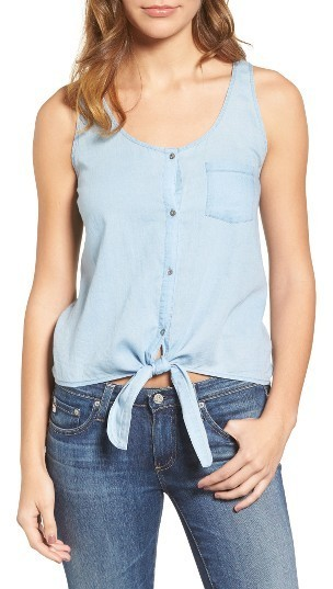 AG Jeans Ag The Cynthia Cotton Chambray Tank