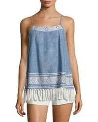 Joie Agneza Chambray Tassel Tank Top