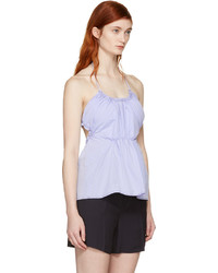 3.1 Phillip Lim Blue Gathered Tank Top