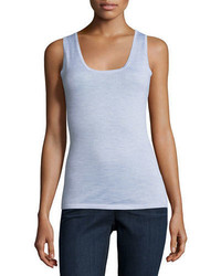 Neiman Marcus Cashmere Collection Modern Superfine Cashmere Tank