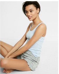 Express One Eleven Ribbed Burnout Tank