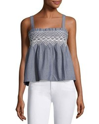 Current/Elliott The Smocked Tank Indigo