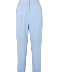 Oscar de la Renta Cropped Wool Blend Twill Slim Leg Pants