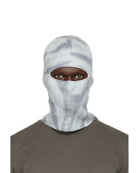 John Elliott Blue Wool And Cashmere Tie Dye Balaclava
