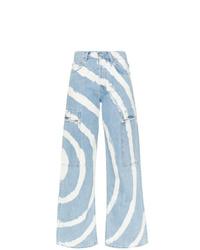 Ganni Blackstone Spiral Bleached Cargo Jeans