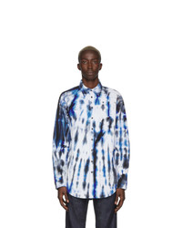 DSQUARED2 Blue And White Dropped Military Fit Shirt