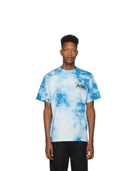 Light Blue Tie-Dye Crew-neck T-shirt