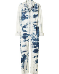 Stella McCartney Tie Dye Denim Jumpsuit