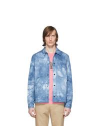 Ps By Paul Smith Blue Tie Dye Jacket
