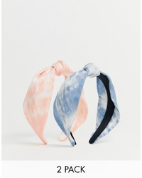 Stradivarius Pack Headbands In Tie Dye