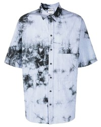 Marcelo Burlon County of Milan Tie Dye Striped Overshirt