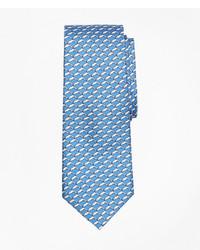 Brooks Brothers Dolphin Print Silk Tie