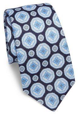 3fe2cc5dd6a8 Kiton Medallion Patterned Tie, $295 | Saks Fifth Avenue | Lookastic.com