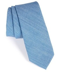 Nordstrom Shop Solid Cotton Blend Skinny Tie