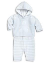Kissy Kissy Infants Two Piece Striped Teddy Sweater Pants Set