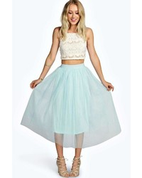 Boohoo Boutique Sophie Tulle Mesh Full Circle Midi Skirt