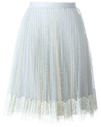 RED Valentino Embroidered Tulle Pleated Skirt