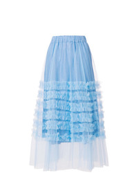 P.A.R.O.S.H. Ruffle Trim Tulle Skirt