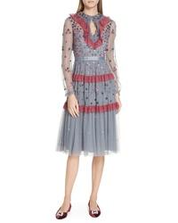 Needle & Thread Nova Sequin Tulle Dress