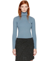 See by Chloe See By Chlo Blue Logo Turtleneck